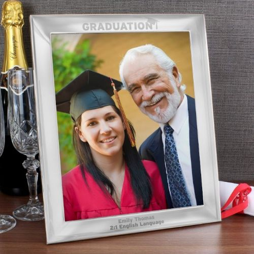 Silver 8x10 Graduation Photo Frame